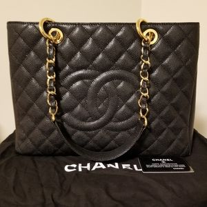 Chanel Black Grand Shopping Tote